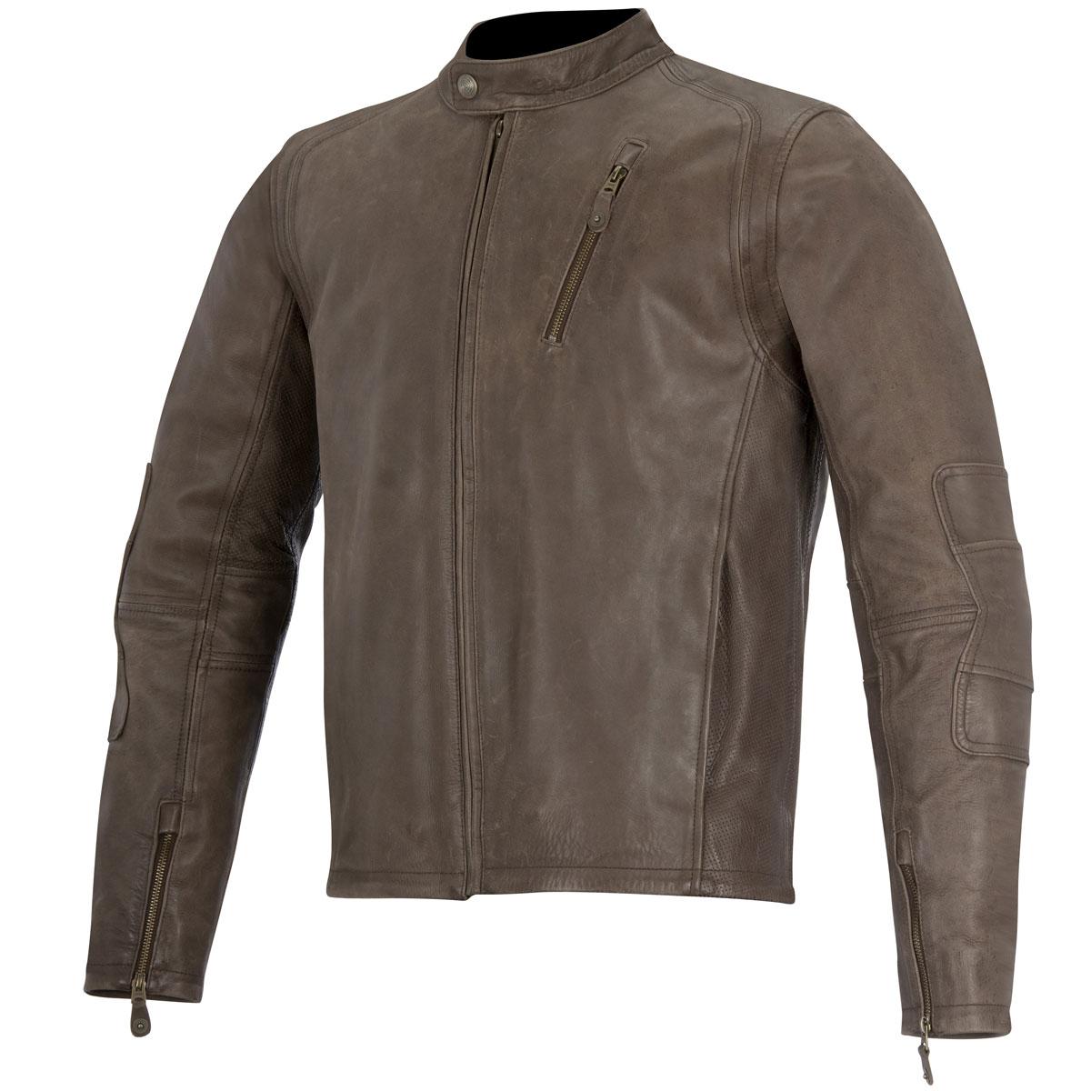 Alpinestars Monty Mens Leather Jacket Brown