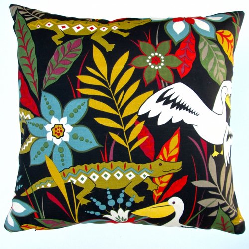 Artisan Pillows Kids Colorful Crocodile/Bird/Flower Indoor/Outdoor Pillow Cover (Set of 2)
