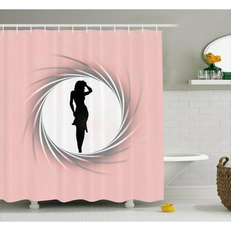 Ebern Designs Flo Decor Hot Lady Artsy Shower Curtain