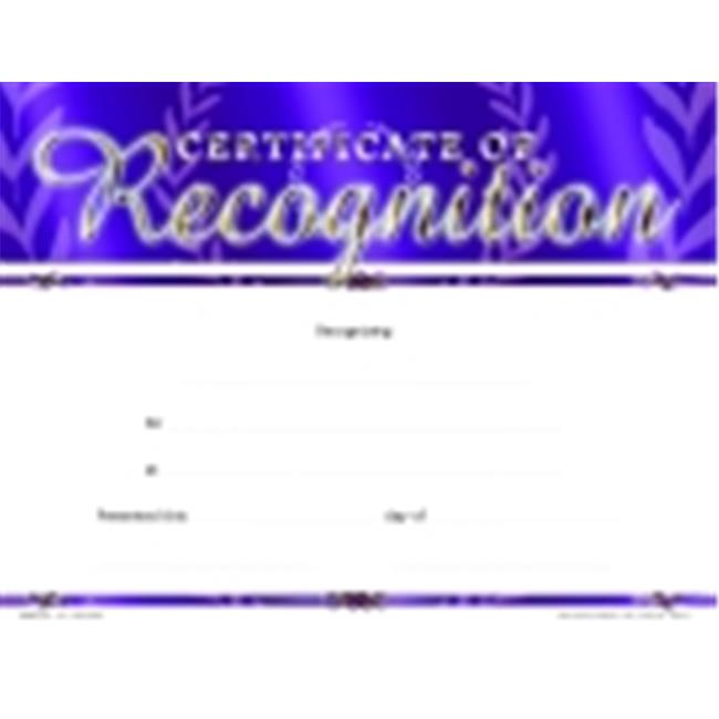 School Specialty Certificate Of Recognition Focus Award - Fill In The Blank, Pack - 25