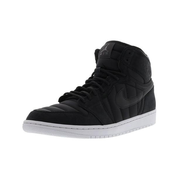 Nike Men's Air Jordan 1 High Strap Black / - Pure Platinum High-Top Basketball Shoe 8.5M