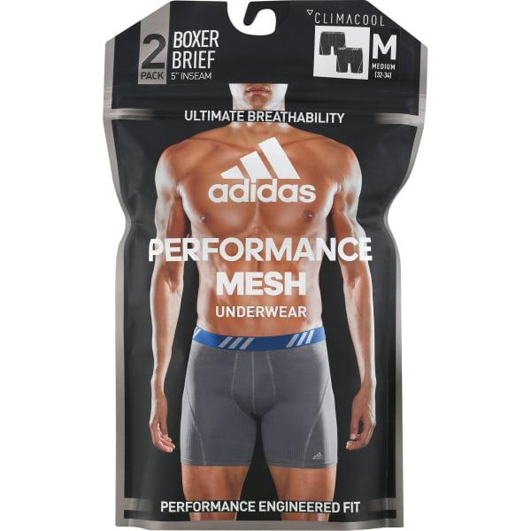 Adidas Mens Sport Performance Boxer Briefs Climacool Underwear (2 Pack) Black