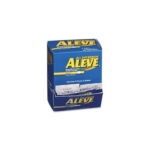 ACME UNITED CORPORATION Aleve, Single Dose Med Pack, 50/BX, Blue