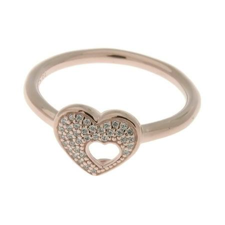 Shimmering Puzzle Heart Frame Ring PANDORA Rose & Clear CZ 186550CZ-58 EU 8.5 US ()