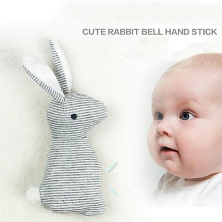- Baby Cute Rabbit Rattle Toys Hand Bells Stuffed Doll