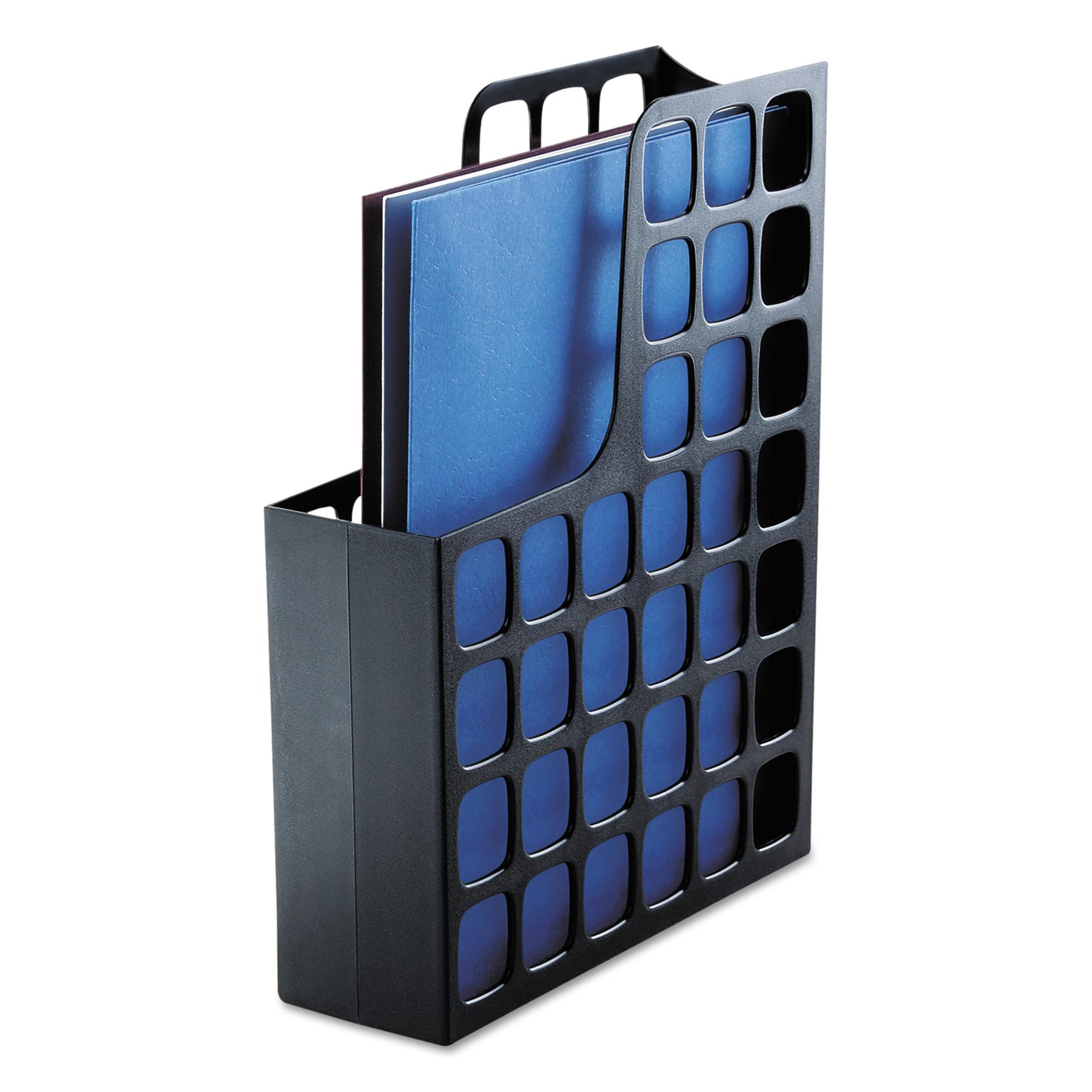 Pendaflex Plastic Magazine File, 3 x 9 1/2 x 12 1/2, Black