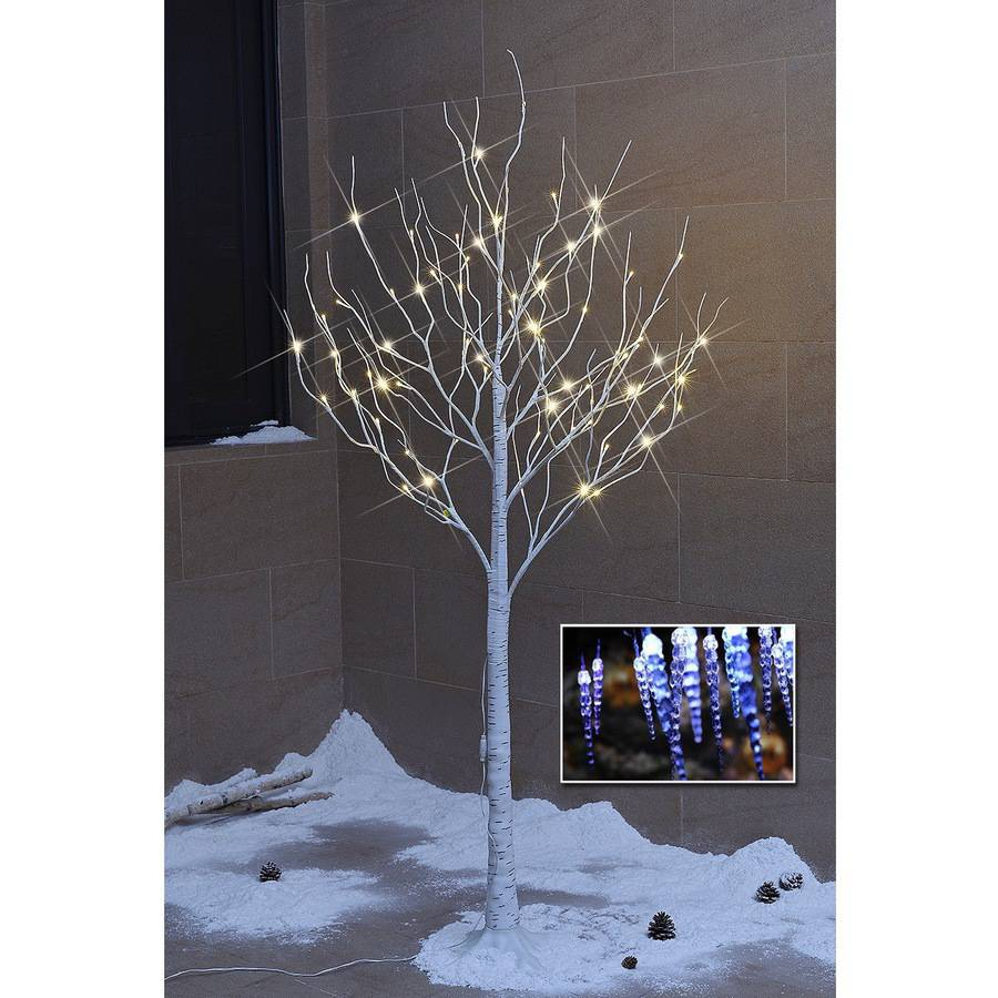 Lightshare 6' 72L LED Birch Tree and Light