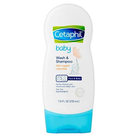 Cetaphil Bébé Wash & Shampooing Calendula Bio, 7.8 FL OZ