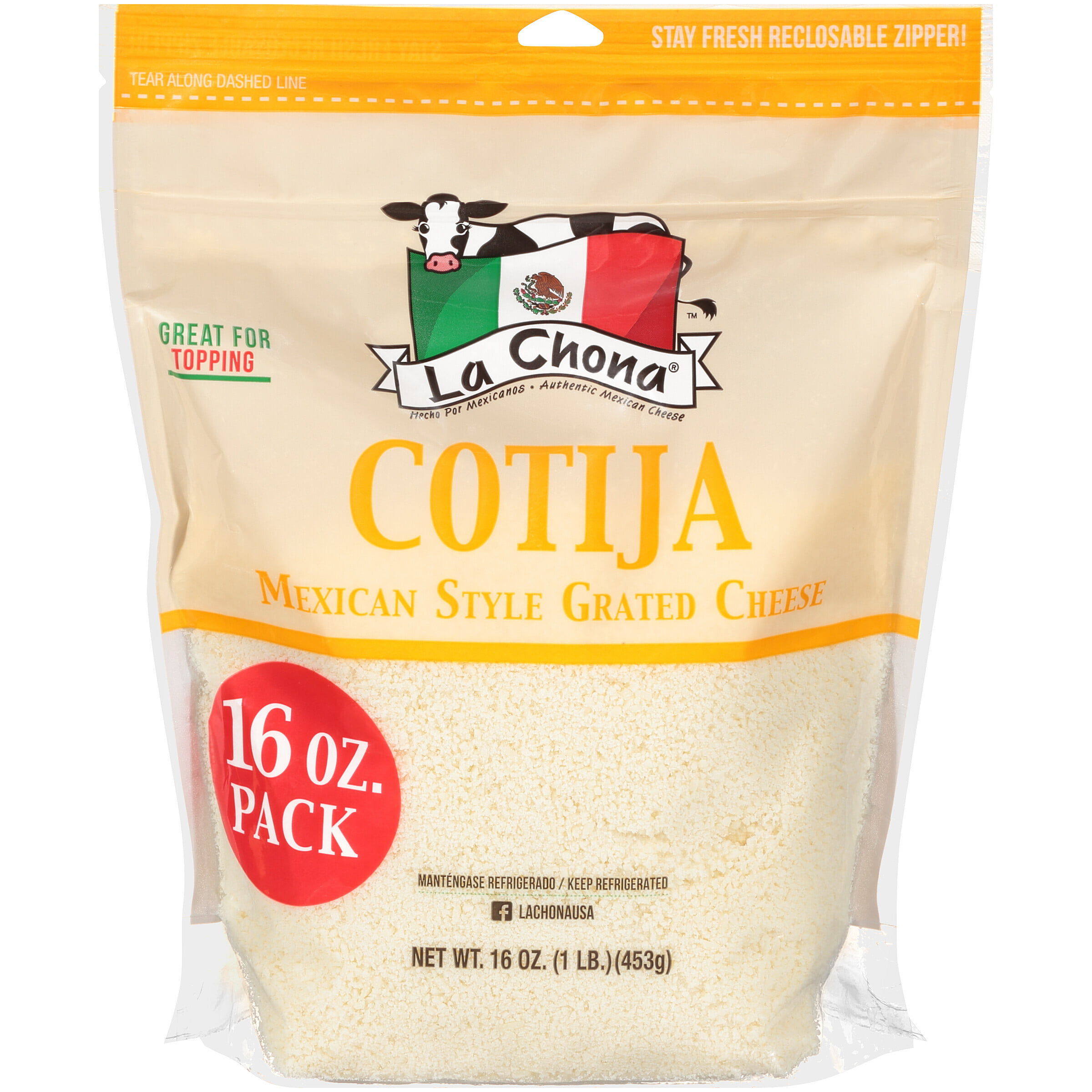 La Chona Cotija Ready To Use Mexican Style Grated Cheese 16 Oz Walmart Com Walmart Com Stream tracks and playlists from la.chona on your desktop or mobile device. la chona cotija ready to use mexican style grated cheese 16 oz walmart com