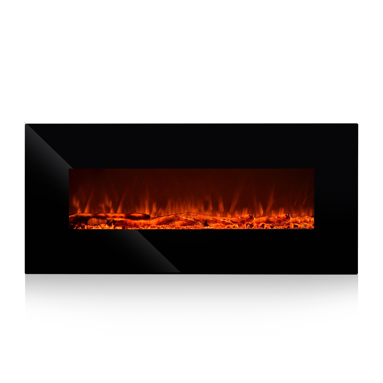 """Oslamp Electric Wall Mount Fireplace Heater 50"""" inch Wall Hanging Fireplace Heater With"""