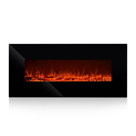 "Oslamp Electric Wall Mount Fireplace Heater 50"" inch Wall Hanging Fireplace Heater With"