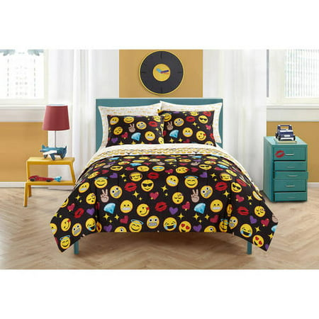 Emoji Pals Kids Rainbow Bed in a Bag Bedding Set, Multiple Colors