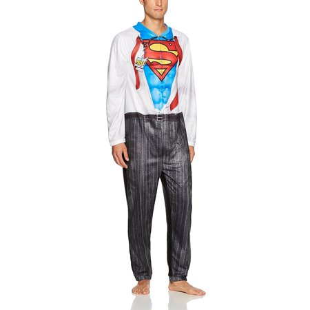 DC Comics Superman Clark Kent Men's Cosplay Union Suit - Clark Kent Costume Halloween