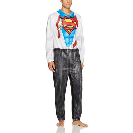 Cosplay Men (DC Comics Superman Clark Kent Men's Cosplay Union)