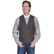 Scully 503-63-46 Mens Leather Wear Lamb Western Vest , Brown - 46