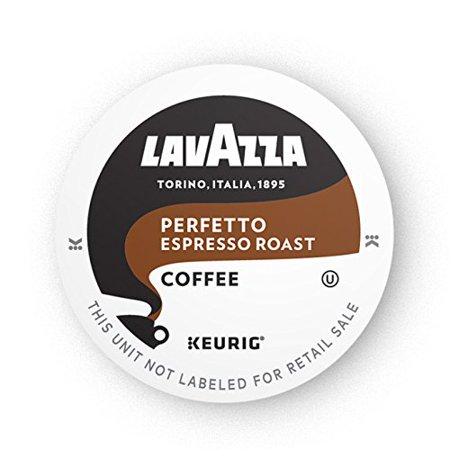 Lavazza Perfetto Single-Serve Coffee K-Cups for Keurig Brewer, Medium Espresso Roast, 16