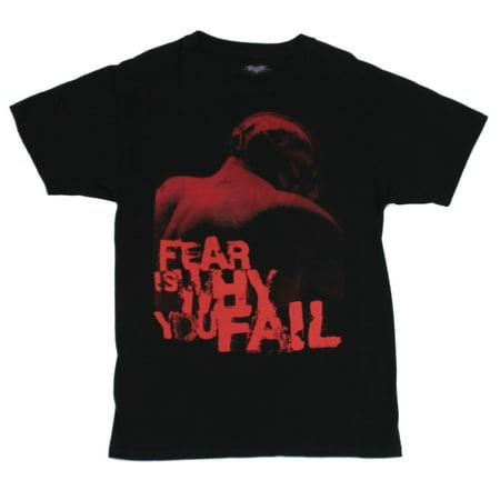 Batman (the Dark Knight Rises) Mens T-Shirt  - Fear is Why You Fail Bane