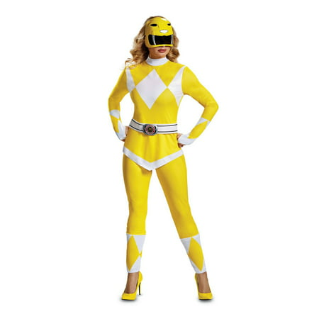 Power Rangers - Mighty Morphin Yellow Ranger Adult Halloween Costume](Mighty Morphin Power Rangers Ninja Costumes)