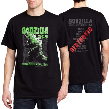 b59bac193 Godzilla - Godzilla World Destruction Tour T-Shirt - Walmart.com