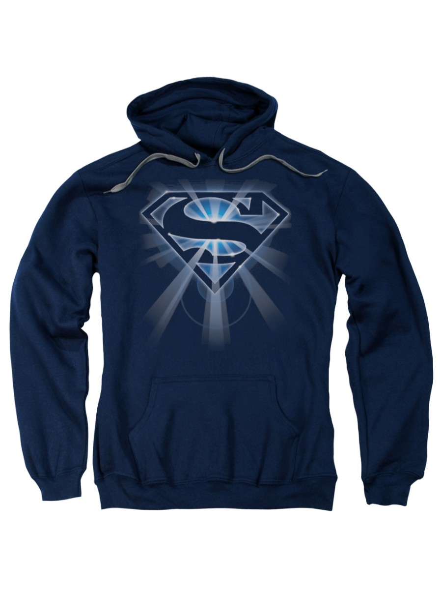 Superman DC Comics Glowing Shield Adult Pull-Over Hoodie