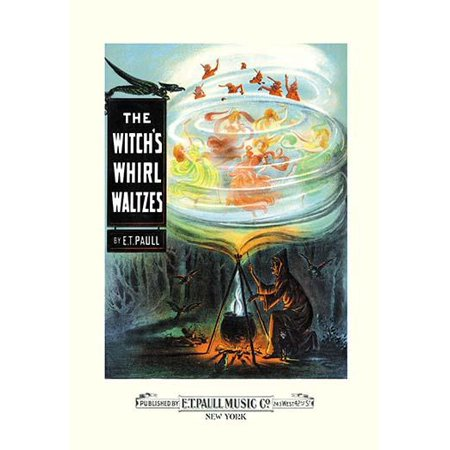 A witch brews a poition in a cauldron  Emerging from the smoke are demon and human dancers  Edward Taylor Paull was a prolific publisher of sheet music marches  His songs gained acclaim more from the