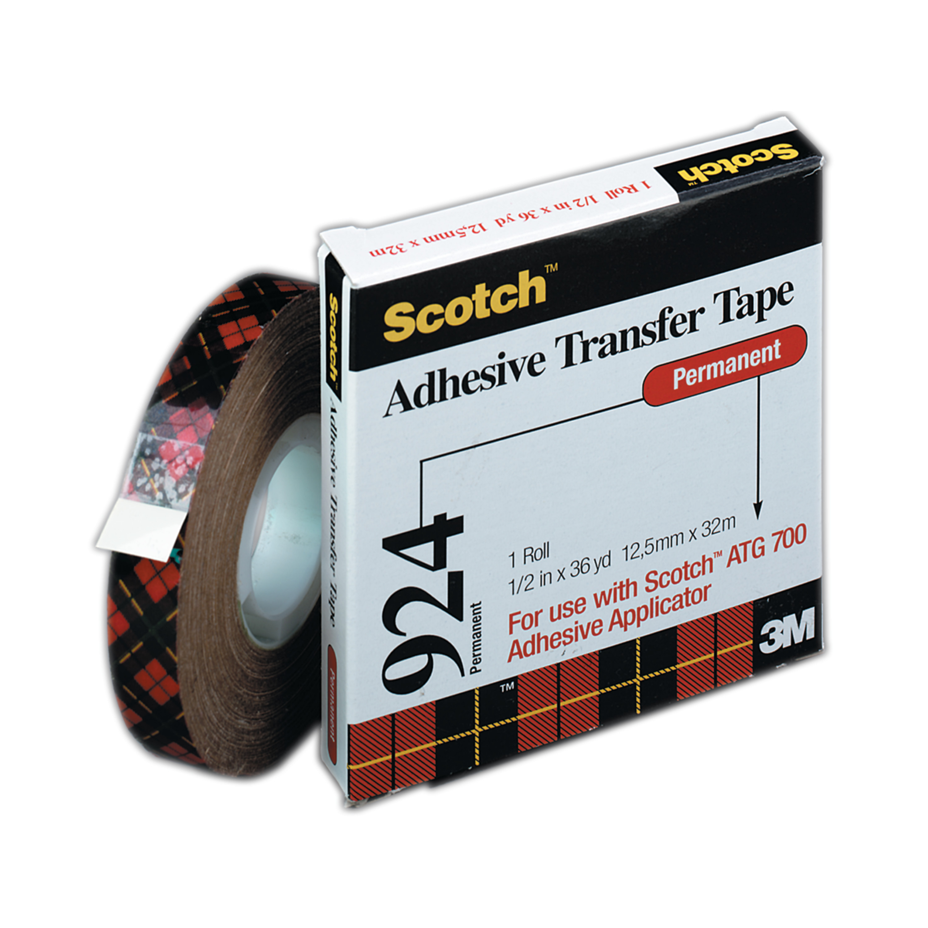 "3M #924 Adhesive Transfer Tape, 1/2"" x 36 yds."