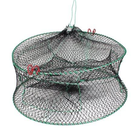 Unique bargains 17 8 x 1 4 nylon metal 2 layers foldable for Fish basket walmart