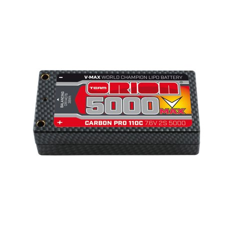 Team Orion USA Carbon Pro V-Max 7.6V 5000mAh 110C 2S LiPo, Shorty Pack, Tubes, ORI14076 ()