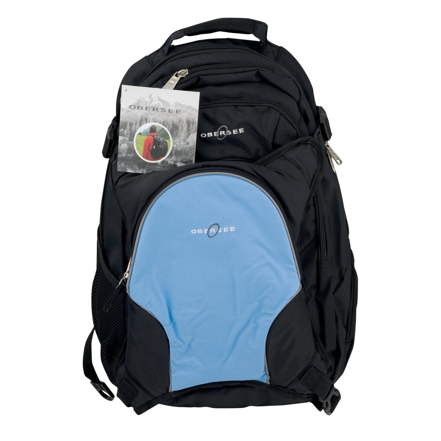 Obersee Bern Diaper Bag Backpack and Cooler, Black/Cloud