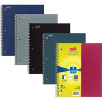 "Staples Accel Durable Poly Cover 3 Sub Notebook Asst Colors 8-1/2"" x 11"" 12PK 2072456"