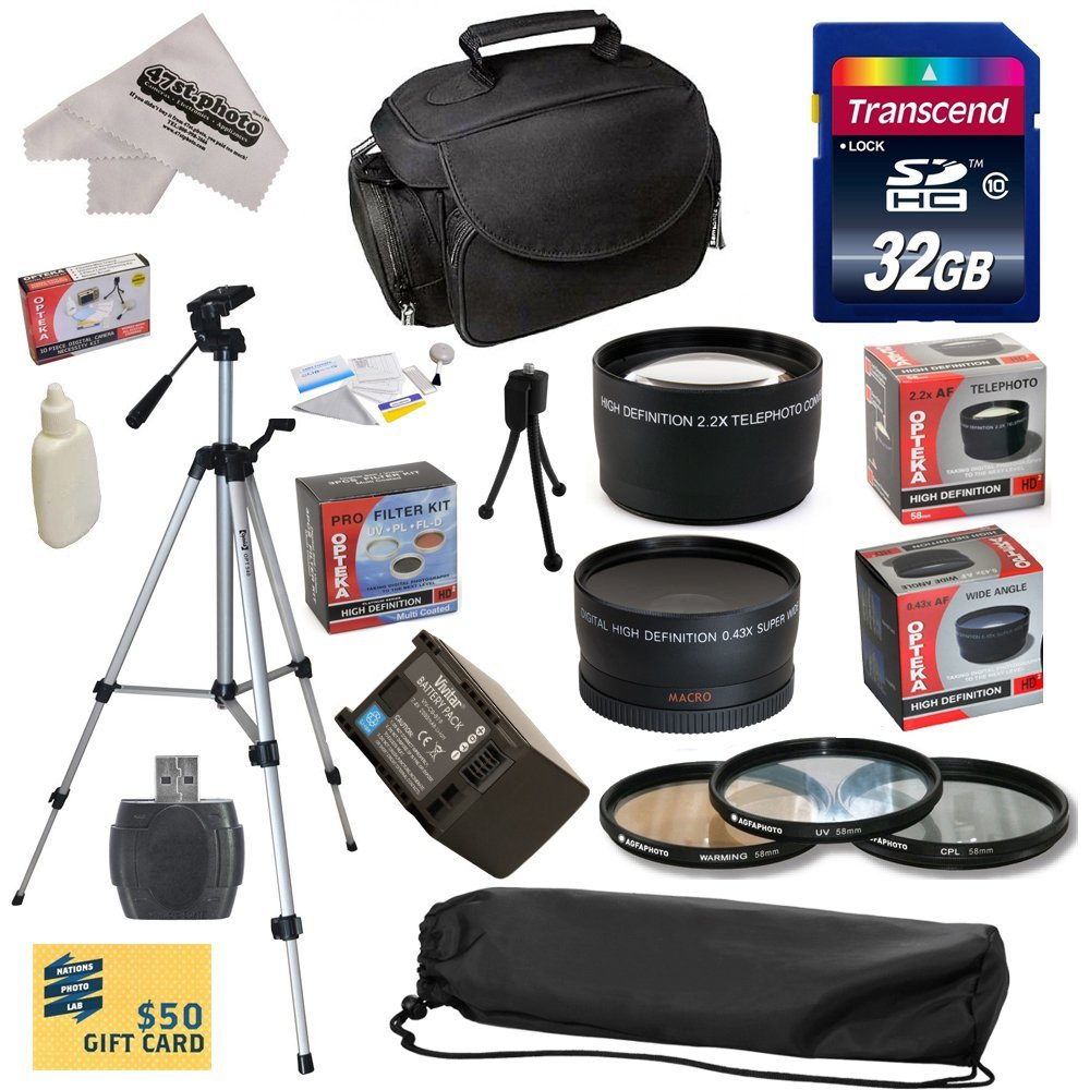 Ultimate Kit for Canon HF S10 S11 S20 S21 S30 S100 G10 G2...