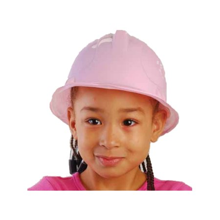 New Kids Childs Girl's Pink Thin Plastic Construction Costume Hard Hat