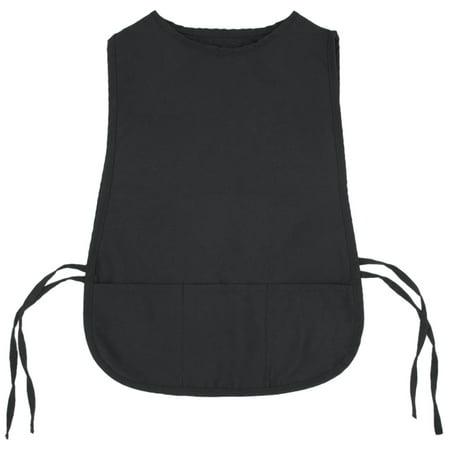 Opromo Kids Cobbler Apron With 3 Pocket/Adjustable Ties, Art Smock Aprons(S/M)-Black-S