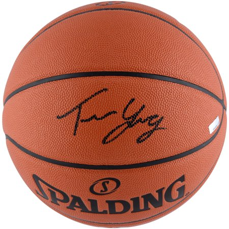 Trae Young Atlanta Hawks Autographed Replica Basketball Signed in Black - Panini Authentic - Fanatics Authentic Certified