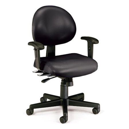 OFM 241VAMAAHF606 Black 24 Hour AntiMicrobial/AntiBacterial Vinyl Task Chair ... - Ofm Antimicrobial Vinyl
