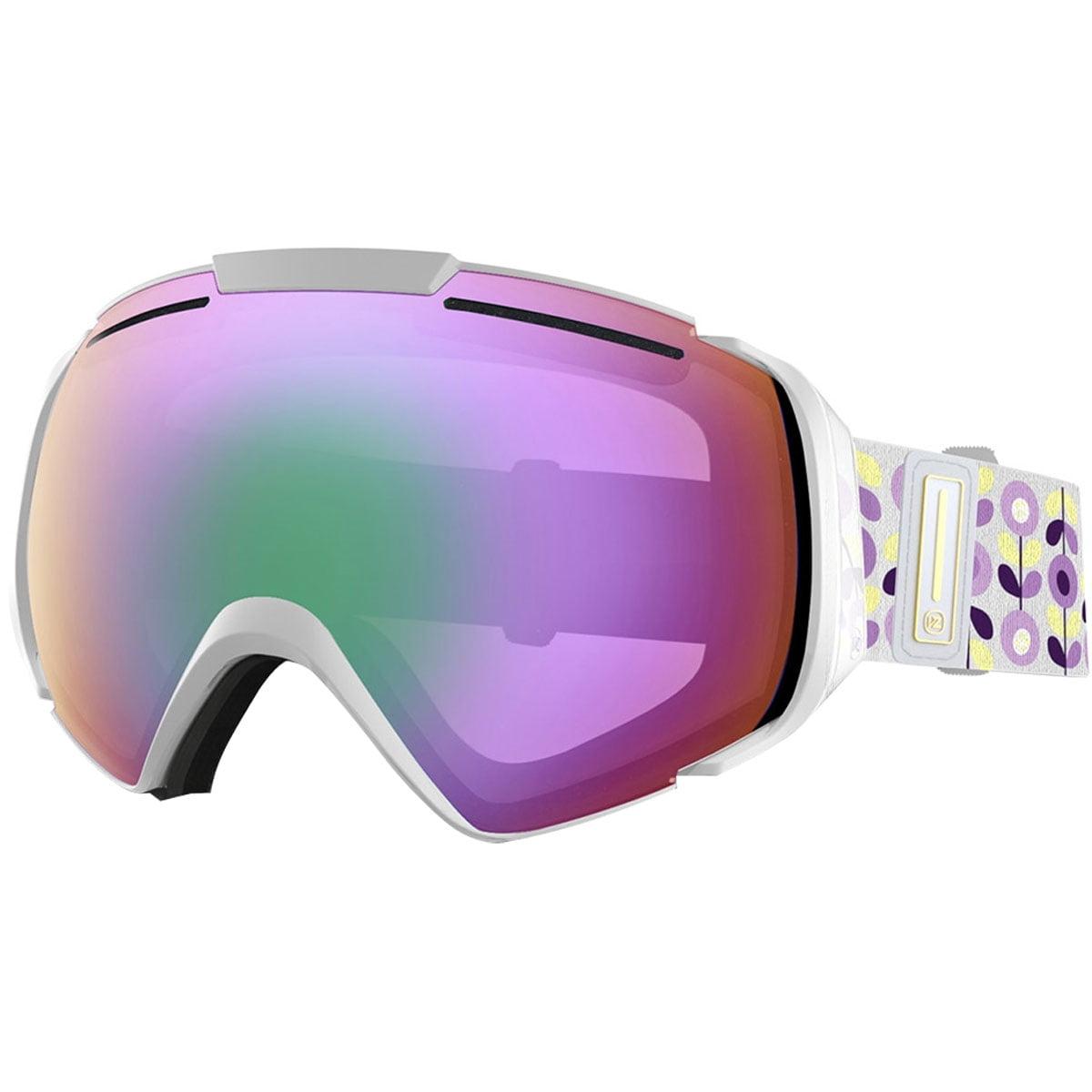VonZipper Adult El Kabong Snowmobile Goggles - Black Satin/Black Chrome / One Size