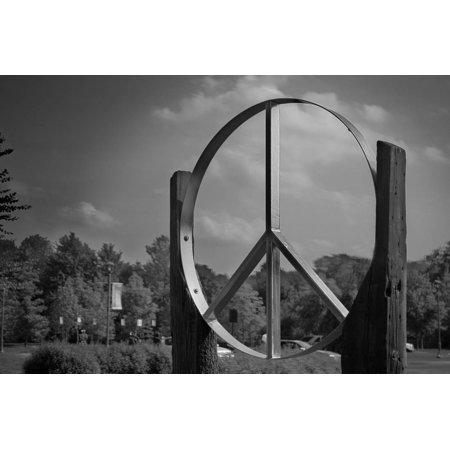Peace Sign Woodstock Hall of Fame Print Wall Art