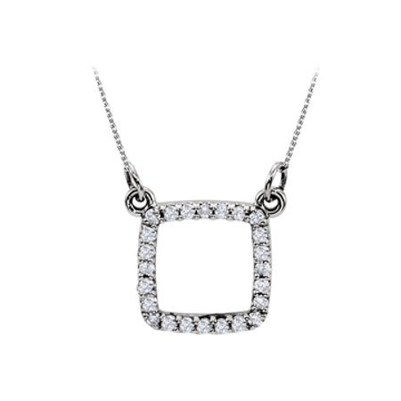 Beautiful Cubic Zirconia Square Shape 925 Sterling Silver Pendant In Stunning Design Cool Price