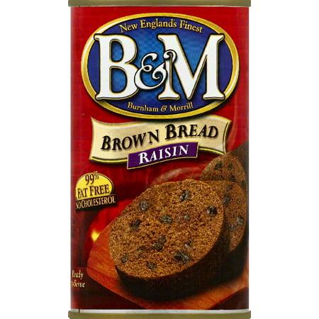 B Raisin Brown Bread  16 Oz