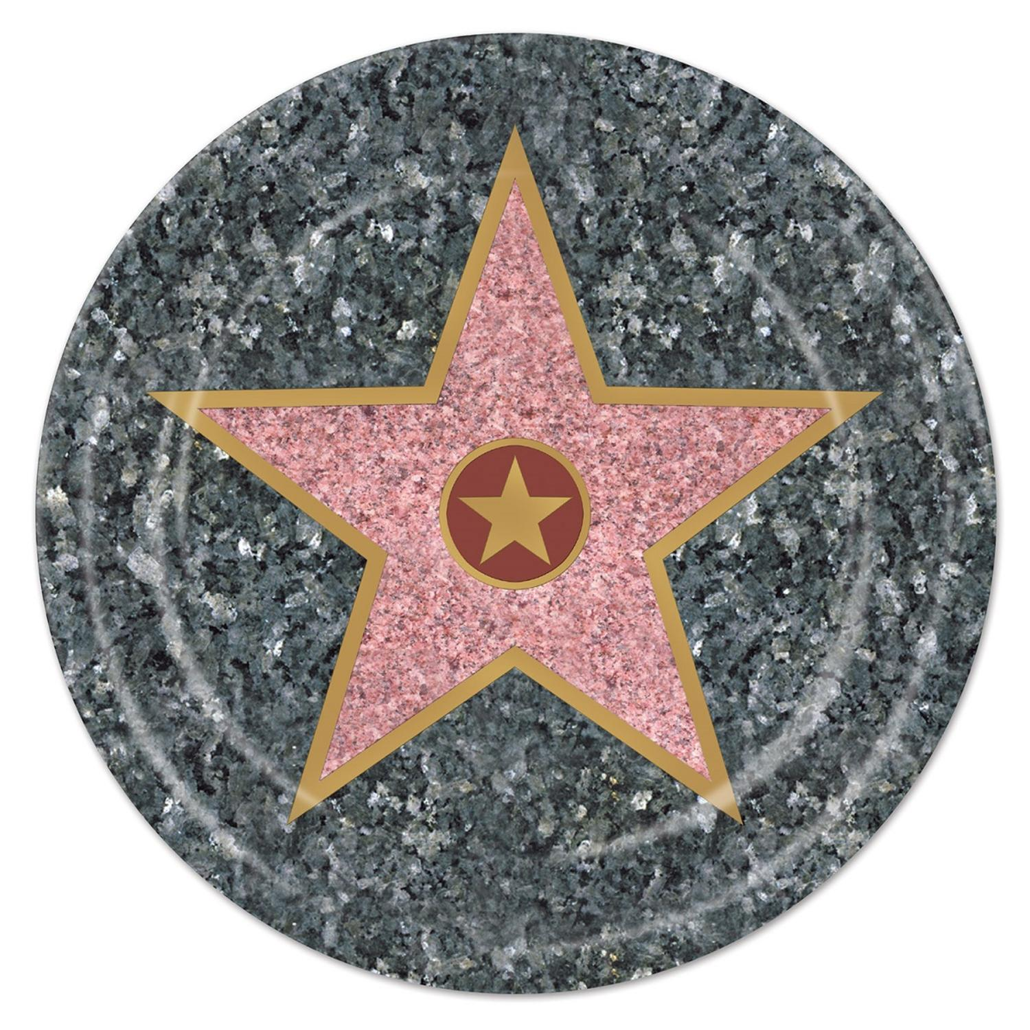 """Pack of 96 Disposable Hollywood Walk of Fame Star Dinner Plates 9"""""""