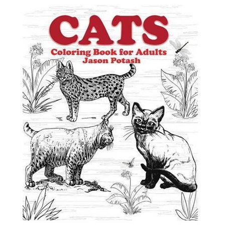 Cats coloring book for adults Coloring book for adults walmart