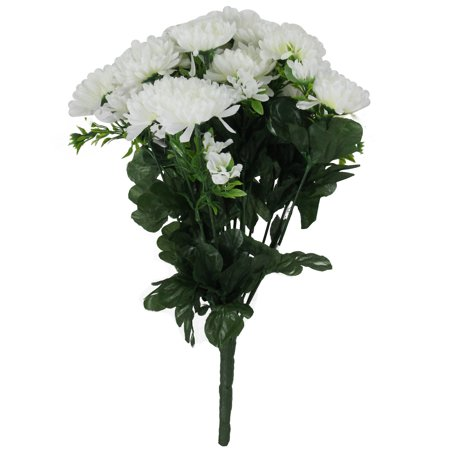 Allstate artificial flowers upc barcode upcitemdb 715833239281 14 decorative white artificial flowering chrysanthemum bush mightylinksfo