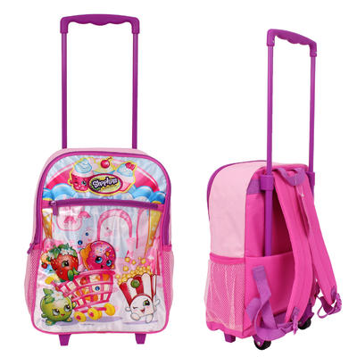 shopkins 16in rolling backpack