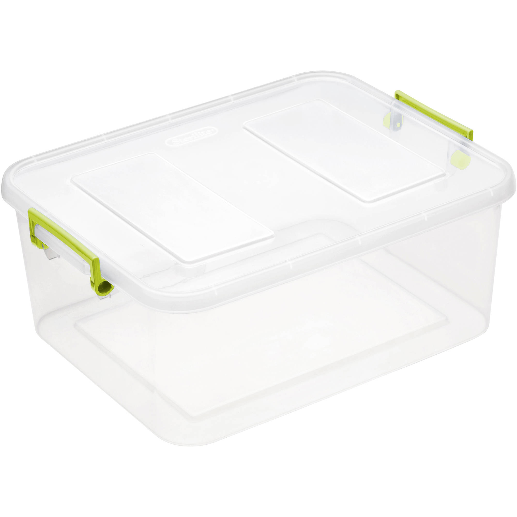 Sterilite 12.7 Quart Modular Latch Box- Bamboo Grass (Available in Case of 6 or Single Unit)