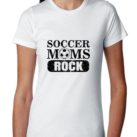 Soccer Moms Rock   Soccer Ball   Fun Vintage Womens Cotton T Shirt