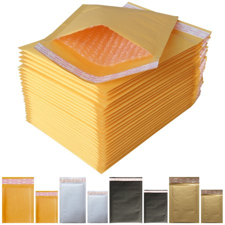 Padded Envelopes Yellow Kraft Bubble Mailers 10x13 (Usable Space 9.2