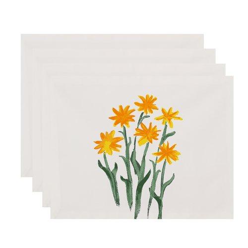 Gracie Oaks Laymon Daffodils Placemat (Set of 4)