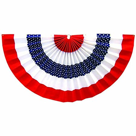 Amscan Stars & Stripes 4th of July Medium Star Bunting Banner Decoration (1 Piece), Multi Color, 25.5 x 2.8