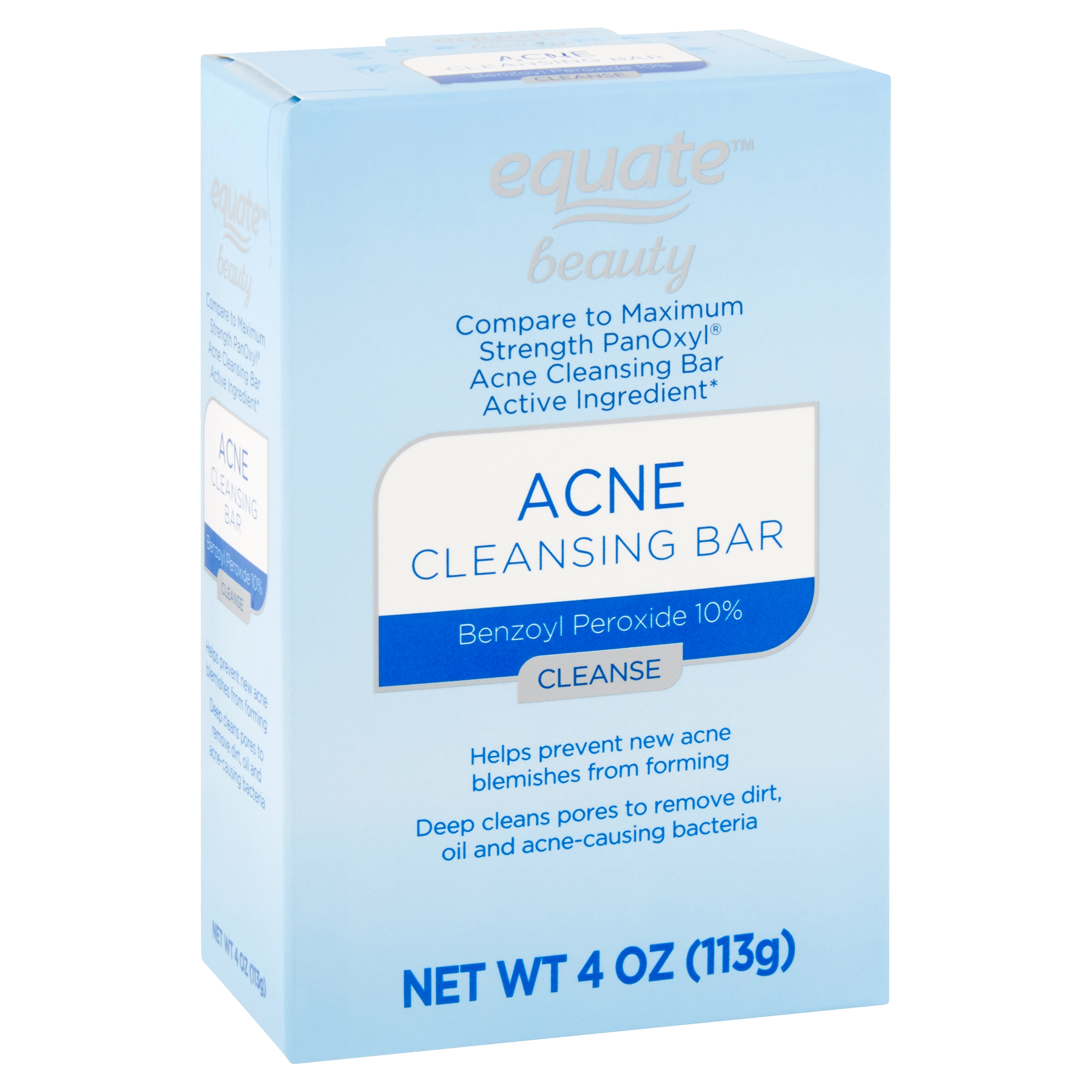 Equate Beauty Acne Cleansing Bar, 4 oz