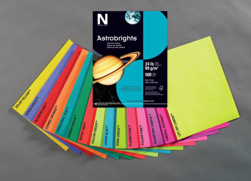 Astrobrights 1280355 Acid-Free Card Stock, Solar Yellow, Pack of 250 by Astrobrights